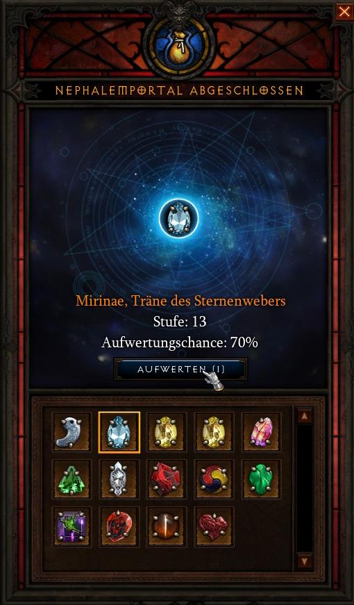 Aufwertungschancen Legendare Edelsteine Diablo 3