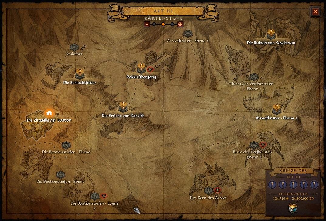 Ruinen von Sescheron Karte