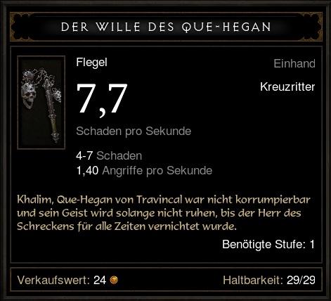 Der Wille des Que Hegan