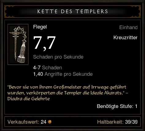 Kette des Templers