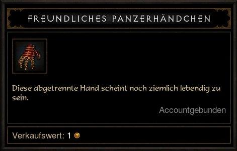 Freundliches Panzerhändchen