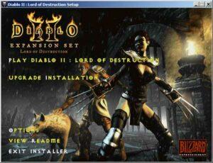 D2 LoD Install Screen