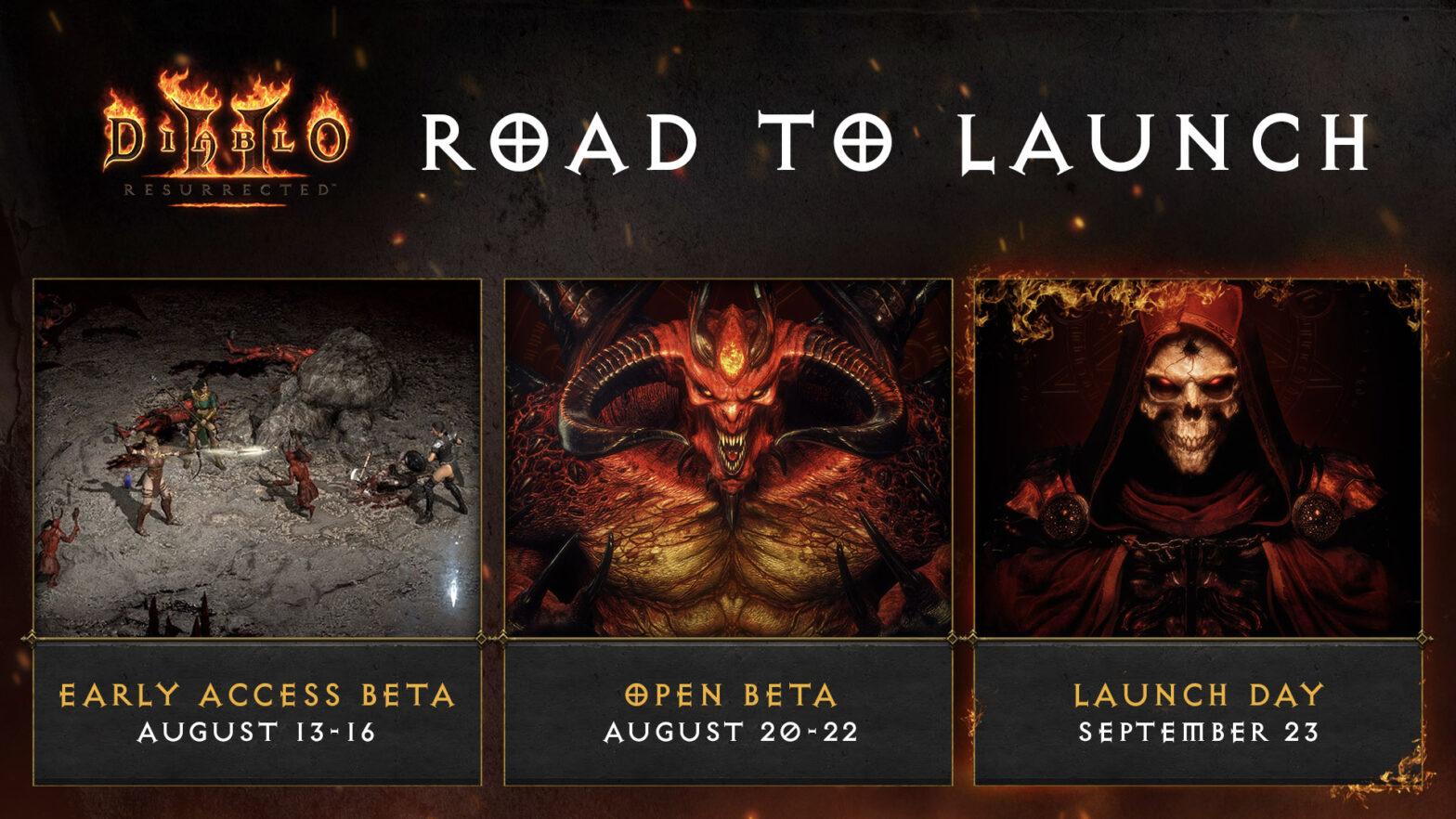 Diablo 2 Resurrected Ankündigung Beta Termine